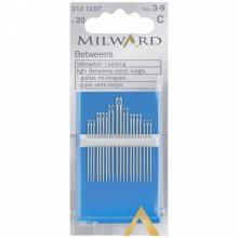 Hand Sewing Needles: Betweens/Quilting: Nos.3-9: 20 Pieces