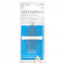 Hand Sewing Needles: Straw/Milliners:: Nos.3-9: 16 Pieces