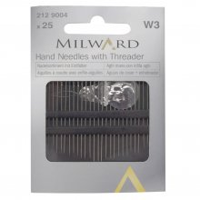 Hand Sewing Needles: with Threader: 25 Pieces