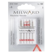 Sewing Machine Needles: Universal: 60/8: 5 Pieces