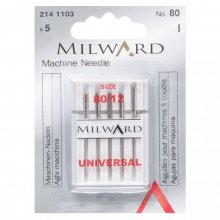 Sewing Machine Needles: Universal: 80/12: 5 Pieces