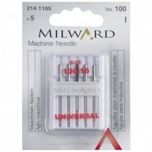 Sewing Machine Needles: Universal: 100/16: 5 Pieces