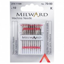 Sewing Machine Needles: Universal: 70/10(4), 80/12(4), 90/14(2): 10 Pieces