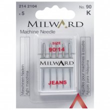 Sewing Machine Needles: Jeans: 90/14: 5 Pieces