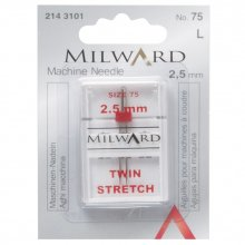 Sewing Machine Needles: Twin: Stretch: 75/11 25mm: 1 Piece