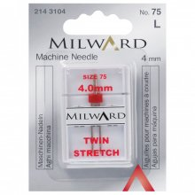 Sewing Machine Needles: Twin: Stretch: 75/11 4mm: 1 Piece