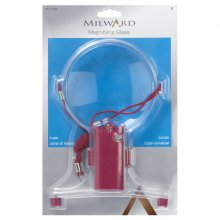 Magnifying Glass with Lamp: Plastic: 1 Piece