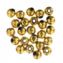 Plated Beads: 8mm: Gold