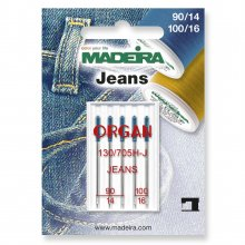 Sewing Machine Needles: Jeans: Sizes: 3 x 90/14, 2 x 100/16