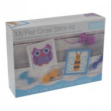 My First Cross Stitch Kit: Owl & Bee Designs