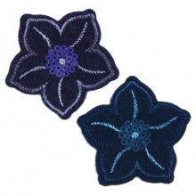 Motif B: Navy Sequined Flowers