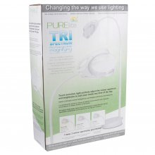 Magnifying Lamp: Tri Spectrum: Rechargeable: Floor, Table and Desk Lamp: European: LED