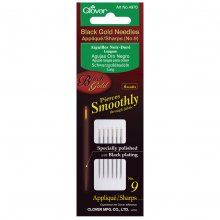 Hand Sewing Needles: Applique/Sharps: Black Gold: No.9