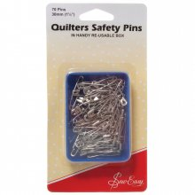 Safety Pins: Quilter's: Open-Plated: 30mm
