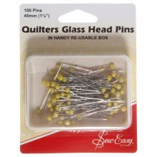Pins: Quilter's: Glass Head: 50mm