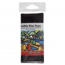 Fusible Bias Tape: 6mm: Black