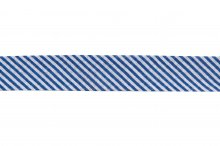 Bias Binding: Cotton: Printed: Stripes: 20mm: Navy
