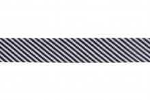 Bias Binding: Cotton: Printed: Stripes: 20mm: Black