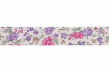 Bias Binding: Cotton: Printed: Ditsy Flower: 20mm: Lil Pnk Crm