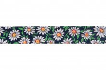 Bias Binding: Cotton: Printed: Daisy Print: 220mm: on Navy