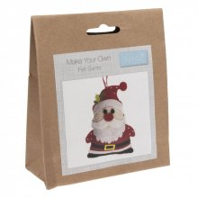 Felt Christmas Decoration Kit: Santa
