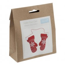 Felt Christmas Decoration Kit: Pair of Mittens