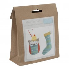 Felt Christmas Decoration Kit: Christmas Stocking and Owl