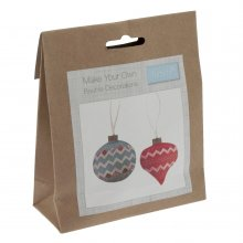 Felt Christmas Decoration Kit: Pair of Baubles