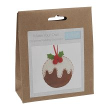 Felt Christmas Decoration Kit: Christmas Pudding