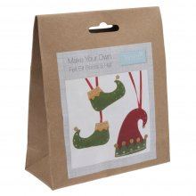 Felt Christmas Decoration Kit: Elf Boots & Hat
