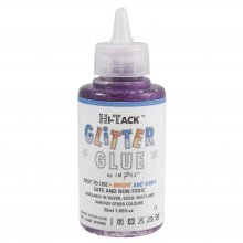 Adhesive: Hi-Tack Glitter Glue: Purple: 50ml (6)