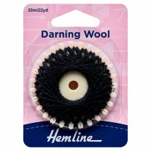 Darning Wool: 20m: Black