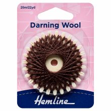 Darning Wool: 20m: Brown