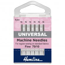 Sewing Machine Needles: Universal: Fine 70/10: 5 Pieces