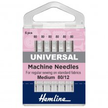 Sewing Machine Needles: Universal: Medium 80/12: 5 Pieces