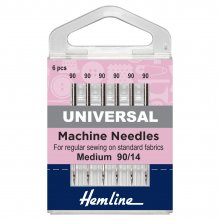 Sewing Machine Needles: Universal: Medium/Heavy 90/14: 5 Pieces