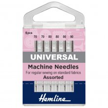 Sewing Machine Needles: Universal: Mixed: 5 Pieces