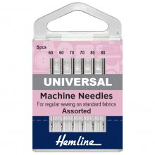 Sewing Machine Needles: Universal: Mixed Fine: 5 Pieces