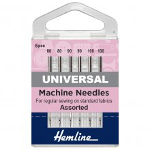 Sewing Machine Needles: Universal: Mixed Heavy: 5 Pieces