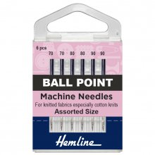 Sewing Machine Needles: Ball Point: Mixed: 5 Pieces