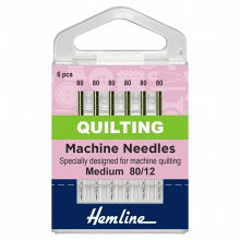 Sewing Machine Needles: Quilting: Medium 80/12: 5 Pieces