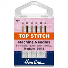 Sewing Machine Needles: Top-Stitch: 90/14: 5 Pieces