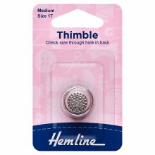 Thimble: Metal: Size 17, Medium