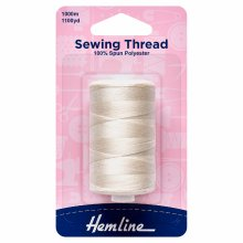 Sewing Thread: 5 x 1000m: Natural