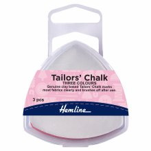 Tailors Chalk: Assorted Colours: Triangle: Pack of 3