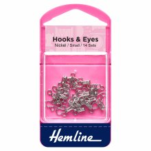 Hooks and Eyes: Nickel - Size 1