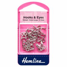 Hooks and Eyes: Nickel - Size 13