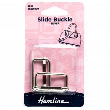 Slide Buckles: 30mm x 16mm: Nickel : 2 Pieces