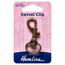 Swivel Clip: 20mm: Bronze