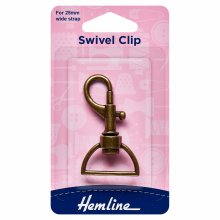 Swivel Clip: 25mm: Bronze